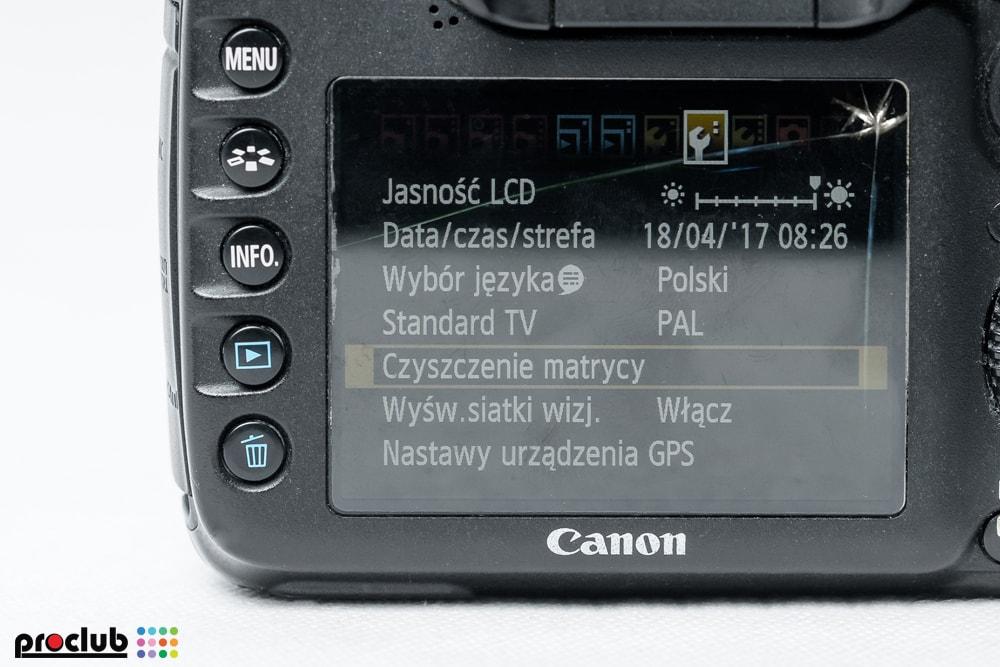 Uszkodzony wyświetlacz LCD w aparacie