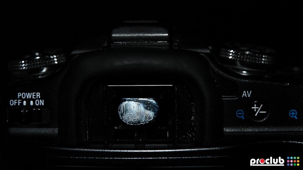 Brudny wizjer w aparacie
