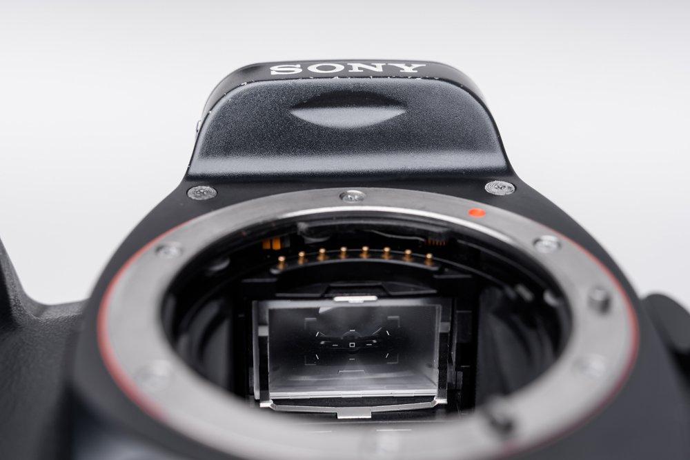 montaż matówki w aparacie