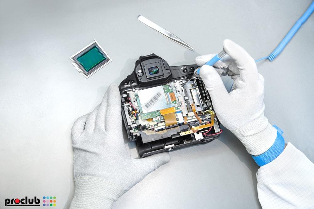 Usterka płyty głównej aparatu