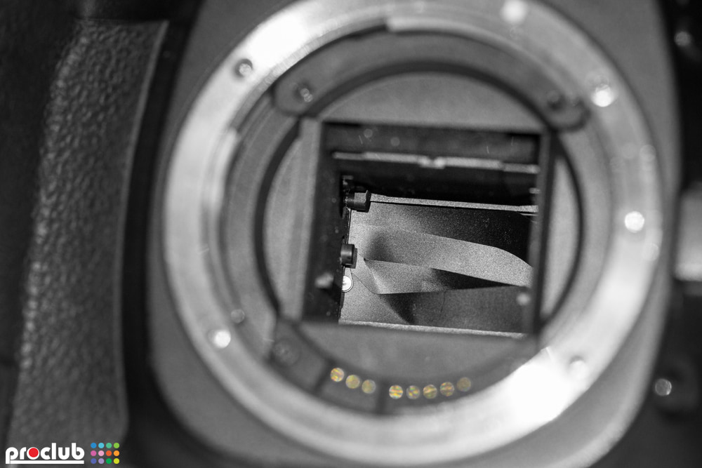 usterka migawki w aparacie