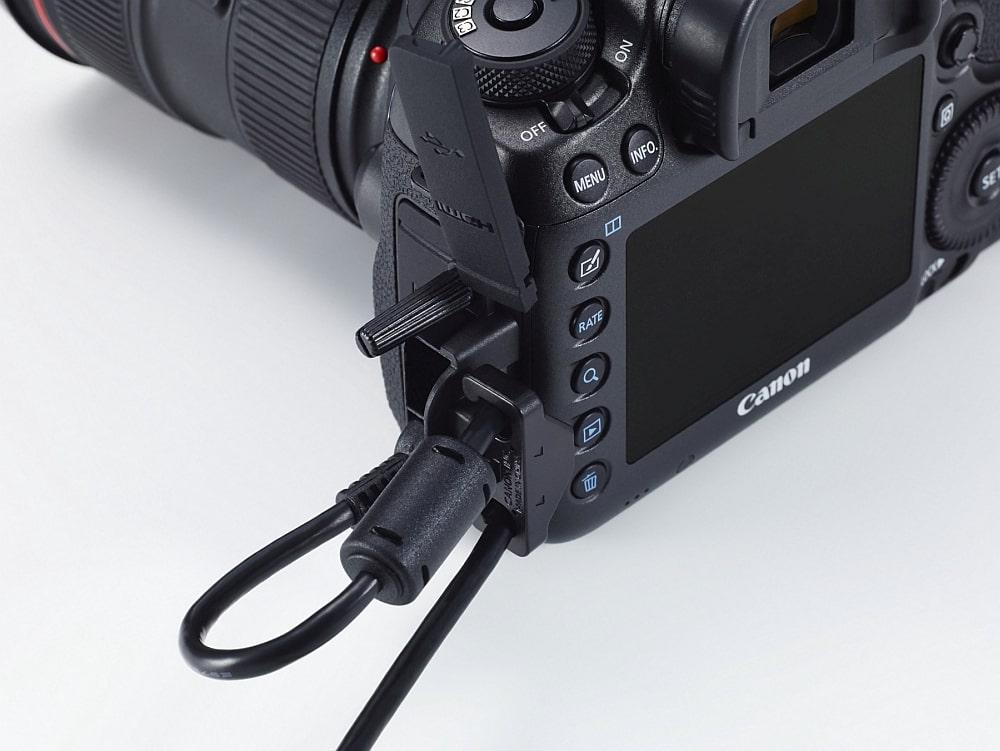 Canon - zabezpieczenie kabli