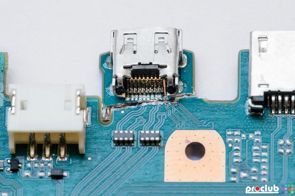 USB - uszkodzona płyta główna aparatu foto