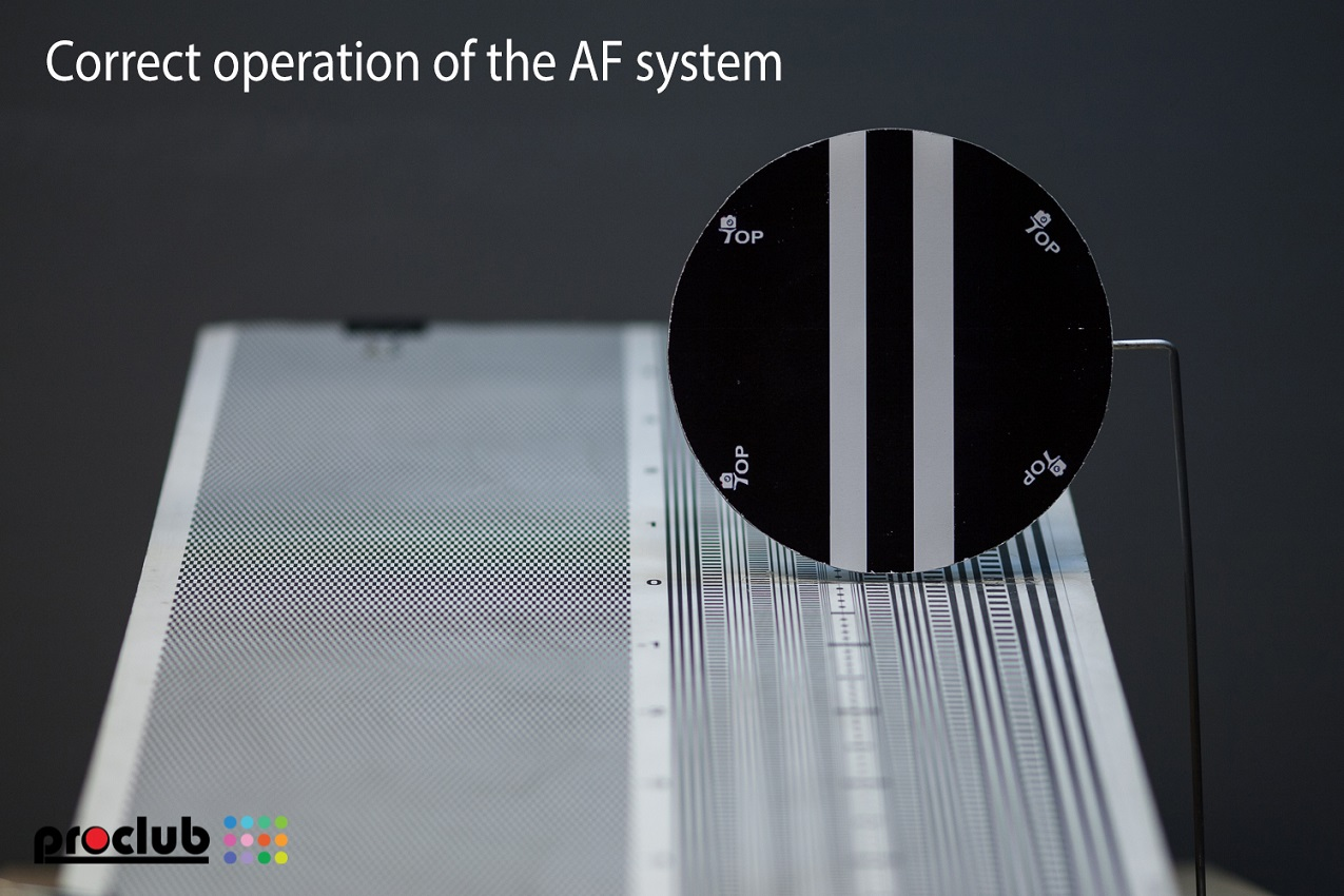 Correct operation of the AF system - focus on the object